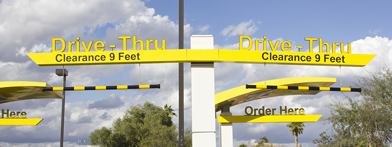 Low-touch, convenient drive-thru experience