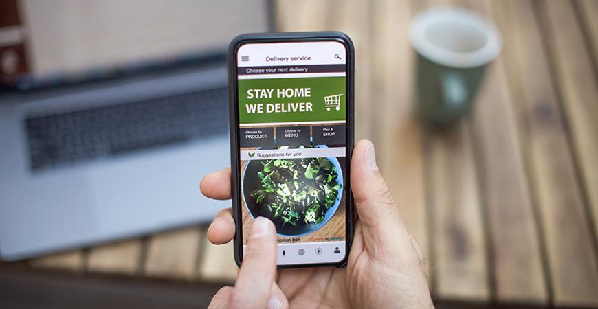Mobile online food delivery app