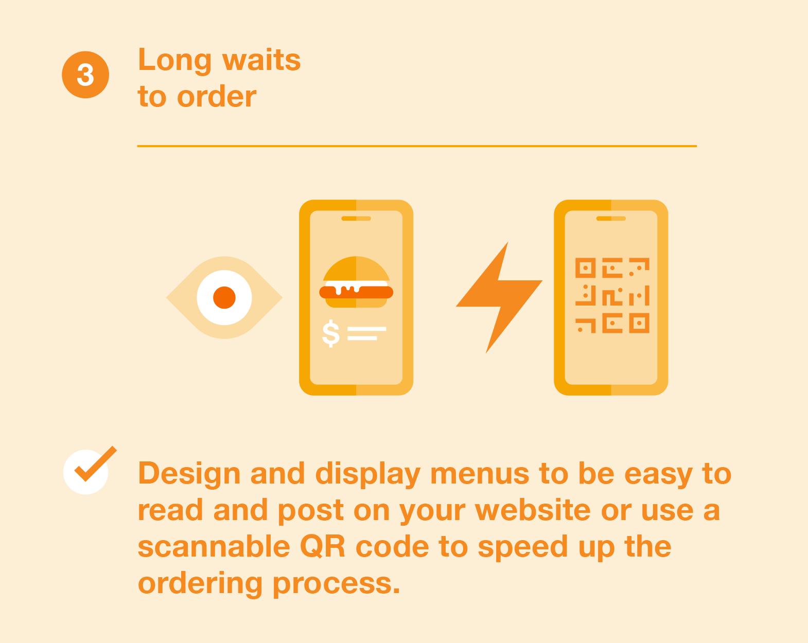 Longer waits to order
