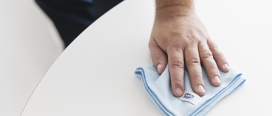 Why microfiber cloths are so good at removing germs
