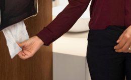Restroom Tork Peakserve paper towel dispenser